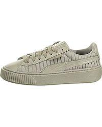 692a6eb261c08c Lyst - PUMA Basket Satin En Pointe Women s Sneakers
