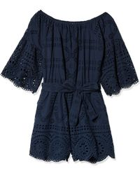 Sperry Top-Sider Off The Shoulder Romper - Blue