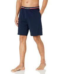 Lacoste Jersey Cotton Pajama Shorts - Blue