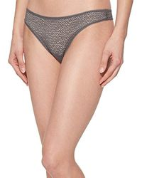 ab48626bb464c Lyst - DKNY Classic Lace Cheeky Boyshort in Natural