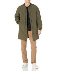 DKNY Mens Slim Fit Long Bomber Jacket