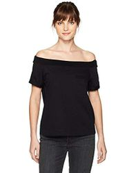 Guess - Off Shoulder Acme Pocket T-shirt - Lyst