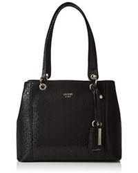 5c8d32543 Guess Rayna Signature Tote in Black - Lyst