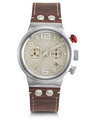 Frye Harness Stainless Steel Japanese Quartz Leather Strap, Brown, 26 Casual Watch (model: 37fr00005-02) - Metallic