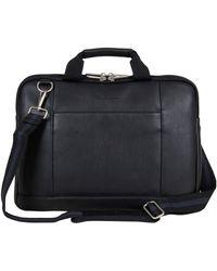 "Ben Sherman Faux Leather Slim 15.6"" Laptop & Tablet Business Case Portfolio Bag - Black"
