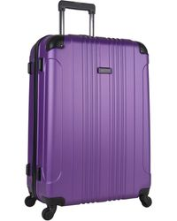 Kenneth Cole Reaction 20 Out Of Bounds Lightweight Hardside 4-wheel Spinner Carry-on Travel Luggage - Purple
