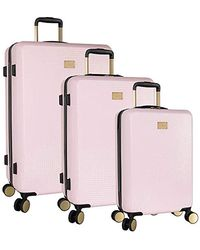 Tommy Bahama 3 Piece Spinner Luggage Set - Pink