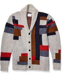 Billy Reid Long Sleeve Shawl Collar Cardigan Sweater - Blue