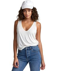 RVCA Womens Minted Scoop Tank Shirt - White