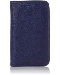 Buxton Hudson Pik-me-up Snap Card Case - Blue