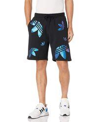 adidas Originals Big Trefoil Zeno Sweat Short Black/team Royal Blue Xx-large