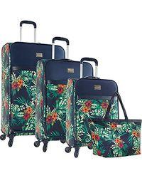Tommy Bahama 4 Piece Lightweight Expandable Luggage Suitcase Set - Blue
