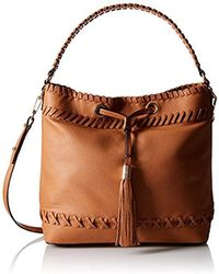 MILLY - Astor Whipstitch Bucket Bag - Lyst