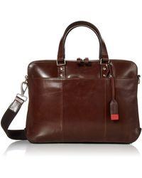 Fossil Defender Messenger Briefcase - Brown