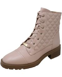Nanette Lepore Idalia Quilted Lug Sole Combat Boot - Multicolor