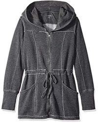 Calvin Klein - Performance Distressed Fleece Hooded Walker Coat - Lyst