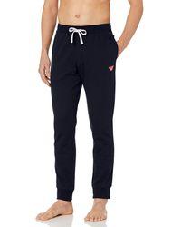 Emporio Armani Iconic Terry Sweatpants - Blue