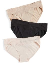 Natori Bliss Perfection One Size V Kini 3 Pack - Natural