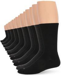 Izod 8pk Athletic Crew Socks - Black