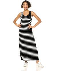 Amazon Essentials Patterned Tank Maxi Dress Vestido Casual - Nero