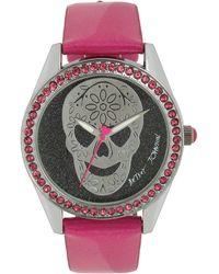 Betsey Johnson Skull Watch - Pink