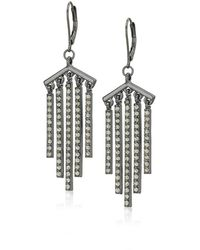 Kenneth Cole Black Diamond Stone Stick Fringe Drop Earrings