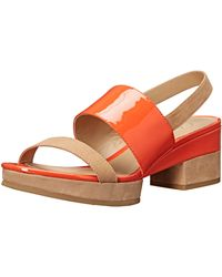 Delman D-malia-np Platform Dress Sandal - Orange