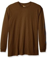 Carhartt - Size Big & Tall Signature Logo Long Sleeve T-shirt - Lyst