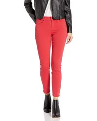 William Rast Perfect Skinny Ankle Jean - Red