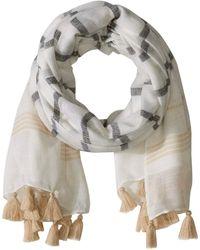 Michael Stars Caroline Yarn Dyed Wrap - Gray