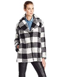 MINKPINK - Shake It Up Plaid Soft Fur Coat - Lyst