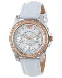 Tommy Bahama Swiss Tb2143 Riviera Swarovski Crystal Bezel White Dial Multi-function Watch