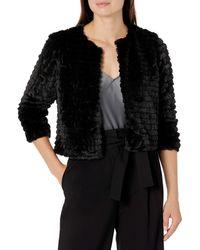 Calvin Klein Faux-fur Shrug - Black