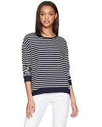Majestic Filatures - Long-sleeved Striped Sweater - Lyst