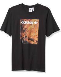 adidas Originals Mens Adventure Tee Black Xx-large