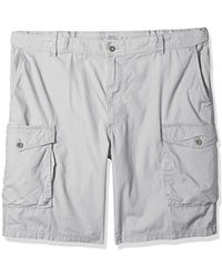 Izod Big And Tall Saltwater Ripstop Cargo Short - Gray