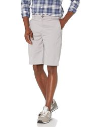 """28 Palms Relaxed-fit 11"""" Inseam Cotton Chino Short - Gray"""