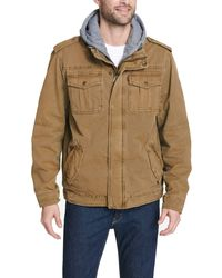 Levi's Four-pocket Hooded Jacket - Brown