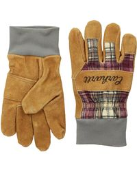 Carhartt Suede Work Glove With Knit Cuff - Multicolor