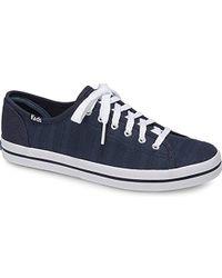 200e2e56244 Keds - Kickstart Eyelet Stripe Sneaker - Lyst