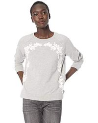 Lucky Brand - Floral Chenille Pullover Sweatshirt - Lyst
