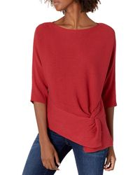 Vince Camuto Long Sleeve Sweater - Red