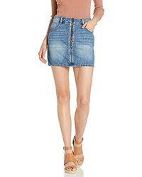 BCBGeneration Studded Denim Mini Skirt - Blue