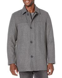 Dockers Big & Tall Weston Wool Blend Scarf Coat - Gray