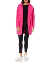 Daily Ritual Teddy Bear Fleece Oversized-fit Lapel - Pink
