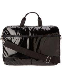 "LeSportsac 15"" 8142g Laptop Bag,black Patent,one Size"