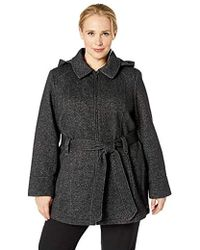 Jones New York - Plus Pluz Size Zip Front Sweatshirt Fleeece Jacket - Lyst