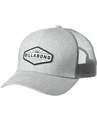 Billabong Walled Trucker Baseball Cap - Gray