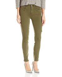 PAIGE Daryn Zip Ankle Jeans-olive Leaf - Green