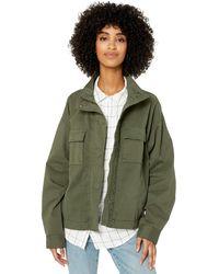 Goodthreads Cropped Utility Jacket Outerwear-Jackets - Verde
